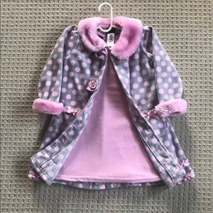 Holiday Editions Pink Dress Set 3T